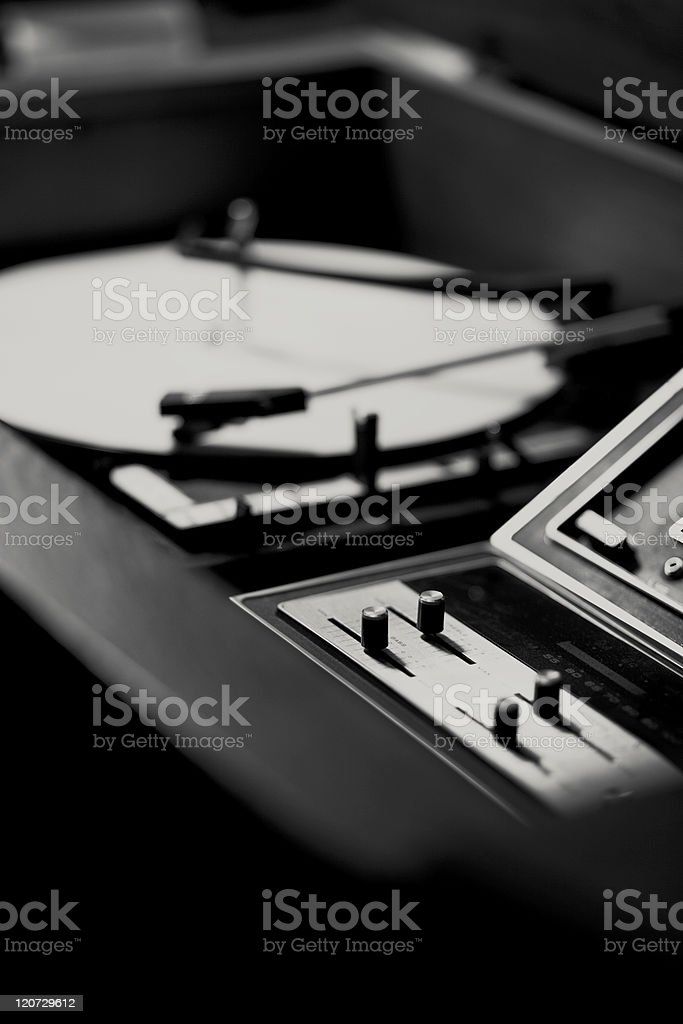Vintage Toned Record Player royalty-free stock photo