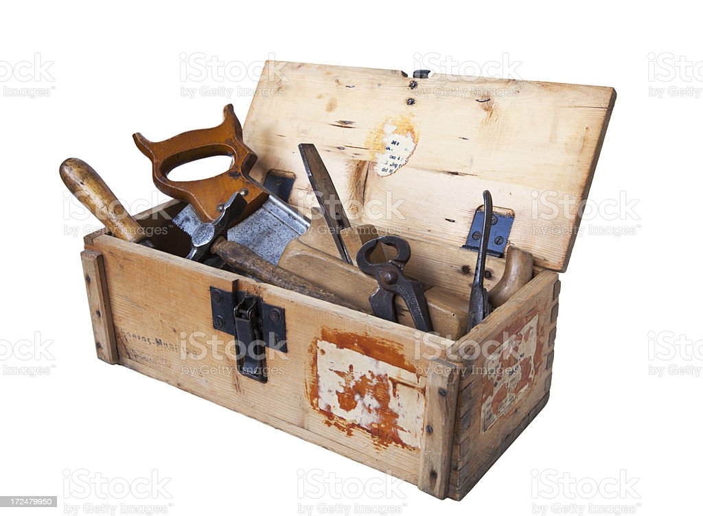 Vintage toolbox. royalty-free stock photo