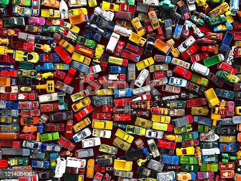 Toy Cars from top view