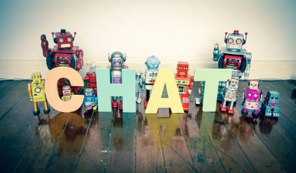jouets vintage - chatbot photos et images de collection