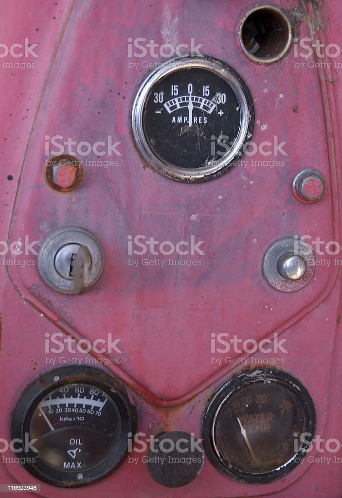 Vintage Tractor Gauges royalty-free stock photo