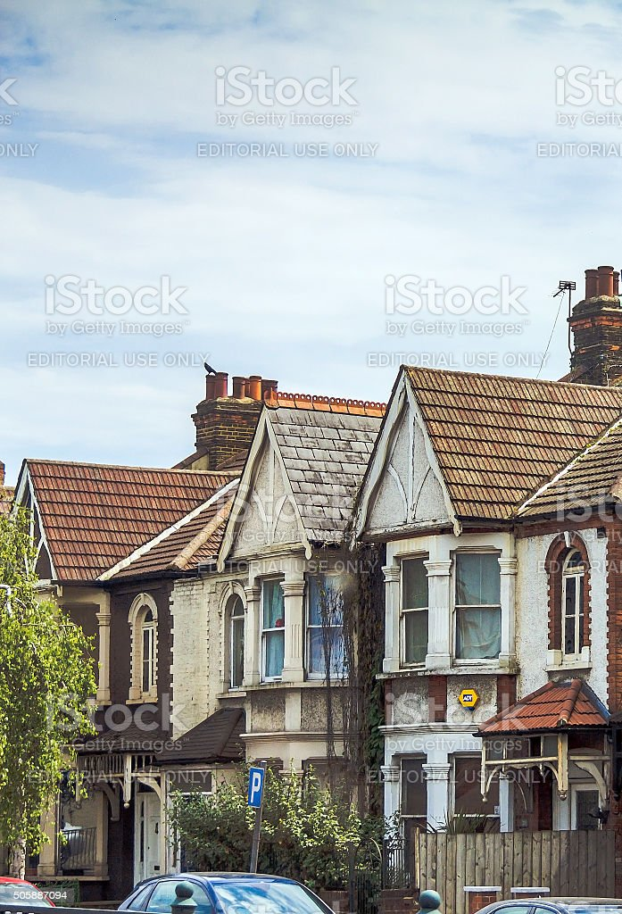 Vintage tradition buildings in Chiswick.  London stock photo