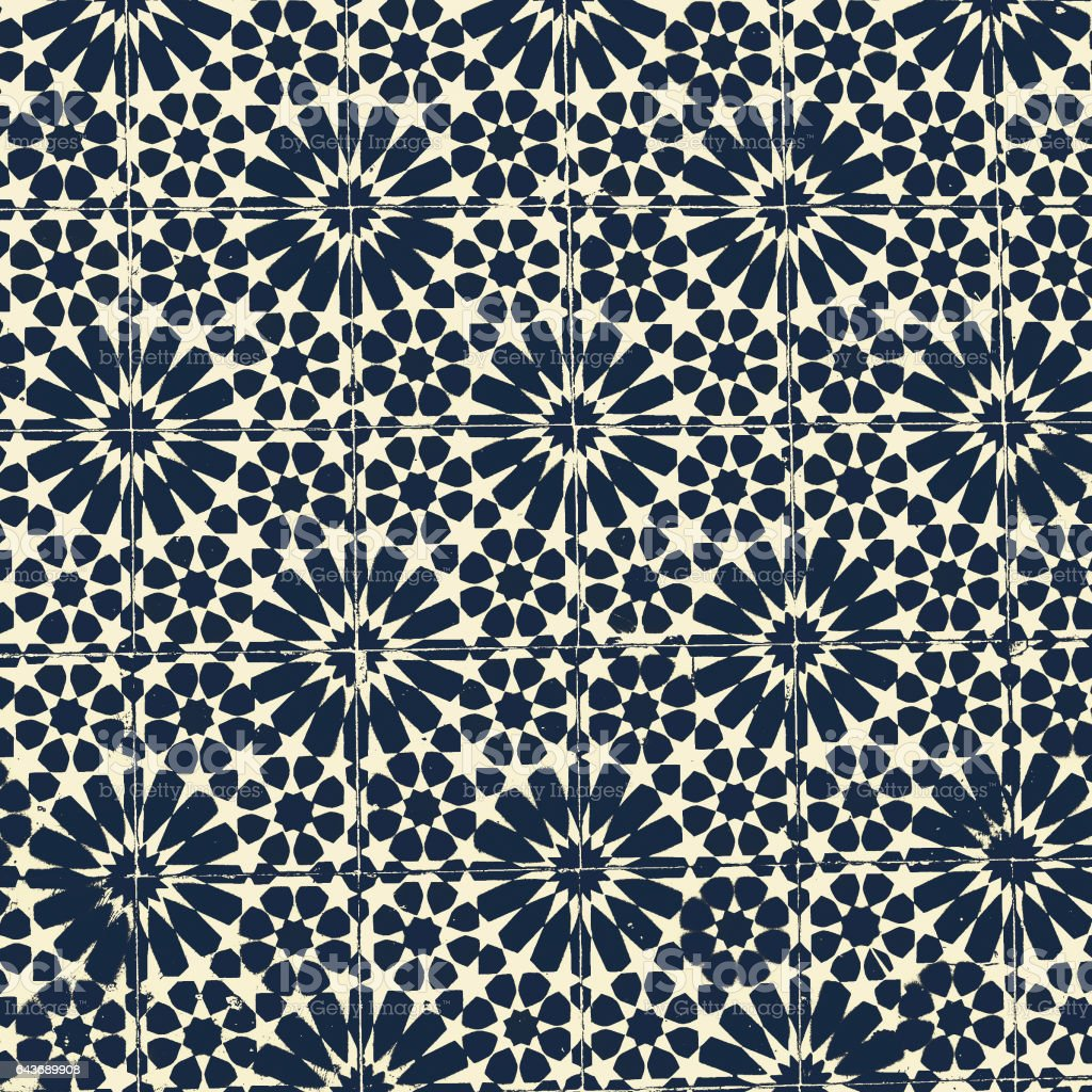 Vintage Traditional ornate portuguese decorative tiles azulejos with pattern, Abstract tiles background stock photo