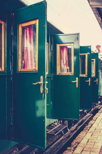 Vintage doors from an old train