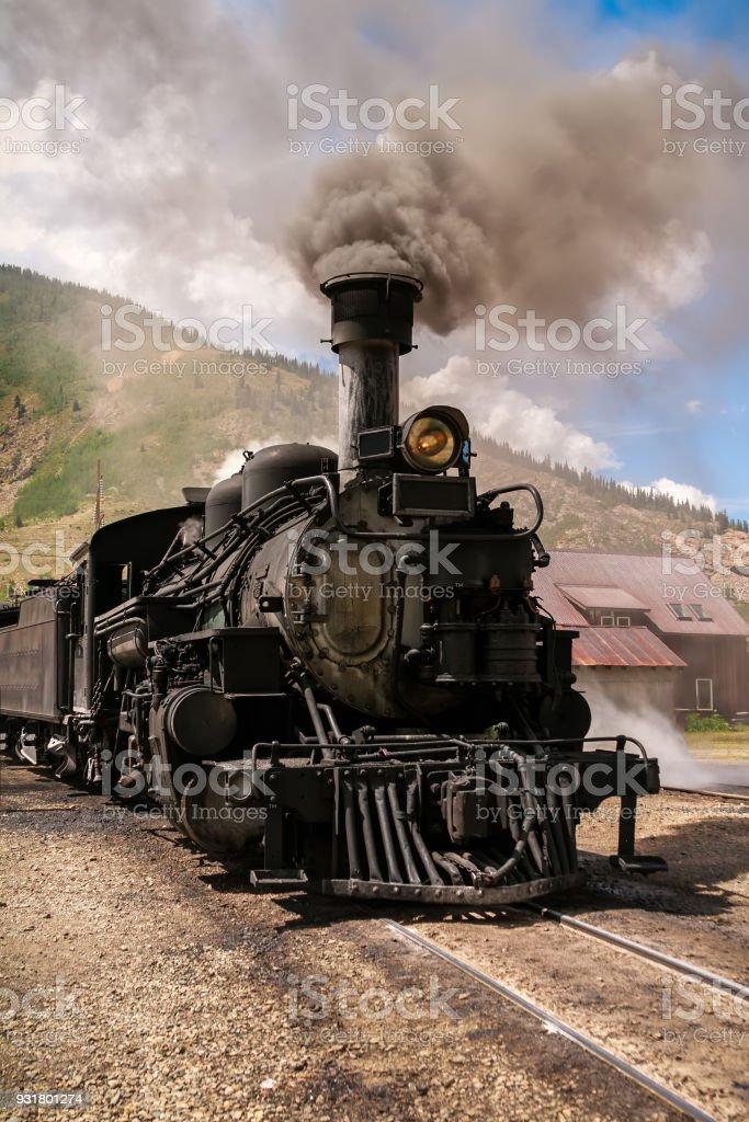 Vintage Train Engine stock photo