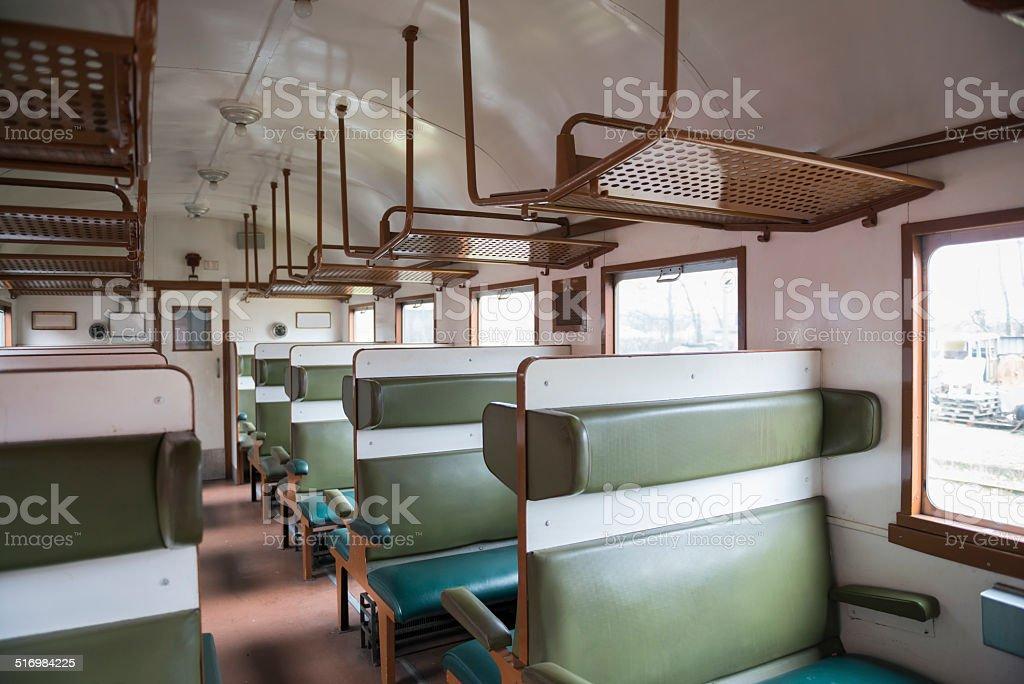 photo de stock de vintage intérieur de train images libres de droit