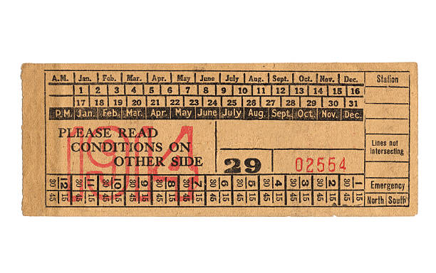 Vintage train ticket Vintage train ticket train ticket stock pictures, royalty-free photos & images