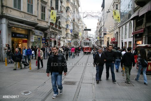 istock Vintage tram in Taksim 459243917
