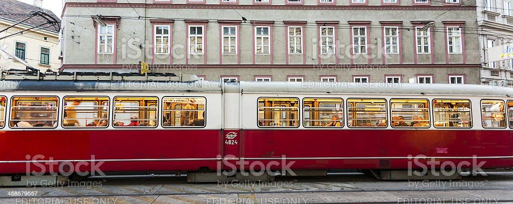 vintage tram in Vienna royalty-free stock photo