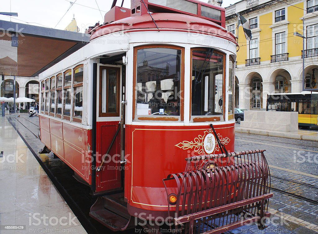 Vintage Tram Trolley royalty-free stock photo