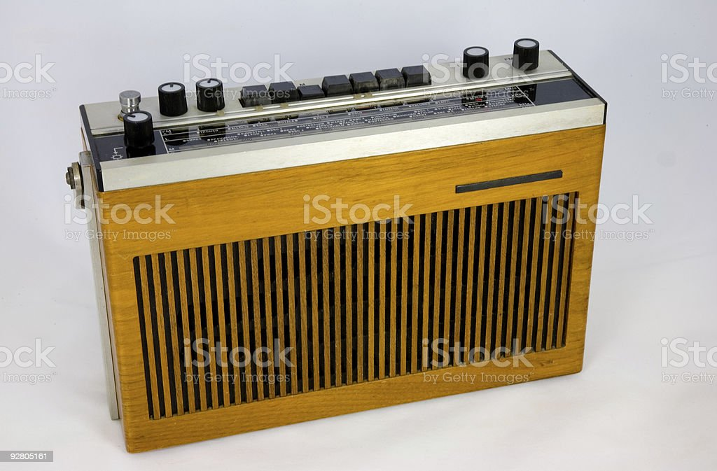 Vintage transistor radio royalty-free stock photo