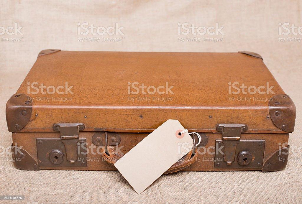Vintage mala de viagem - foto de acervo
