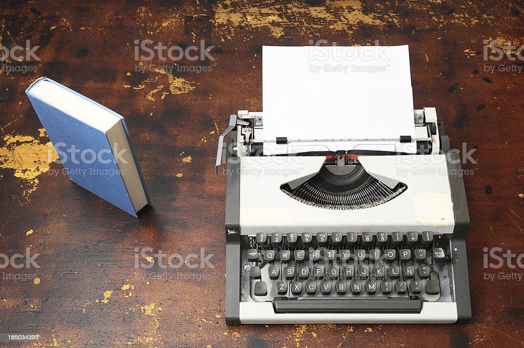 Vintage Travel Typewriter royalty-free stock photo