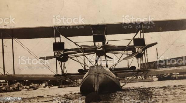 Vintage Tri Motor Sea Plane Stock Photo - Download Image Now