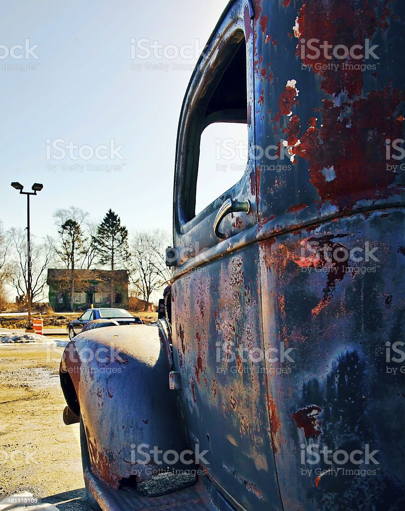 Vintage Truck Cabin royalty-free stock photo