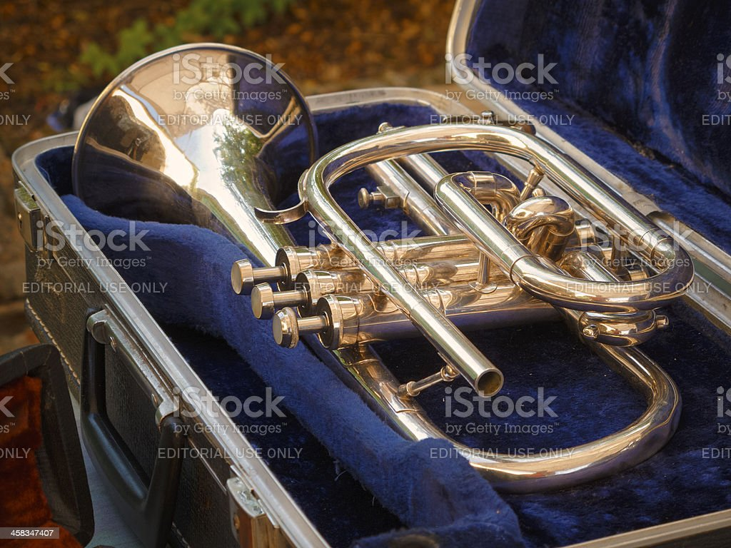Vintage trumpet royalty-free stock photo