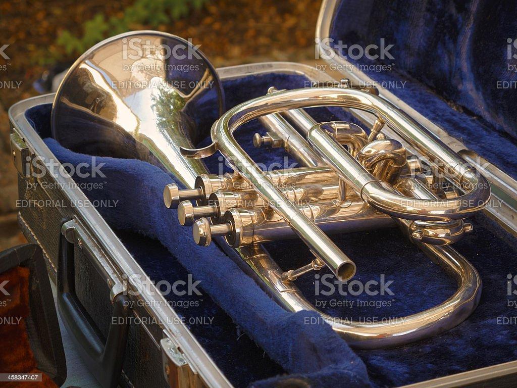 Vintage trumpet stock photo