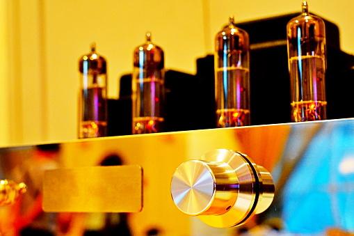 istock Vintage tube amplifier, 1204824738