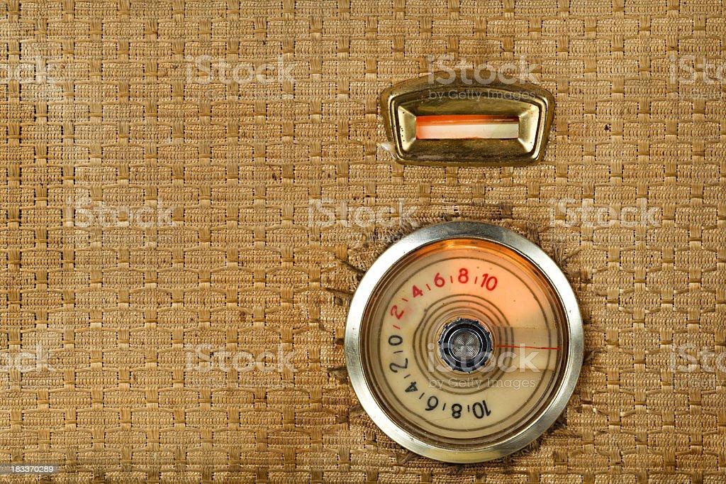 Vintage Tube Radio Detail royalty-free stock photo