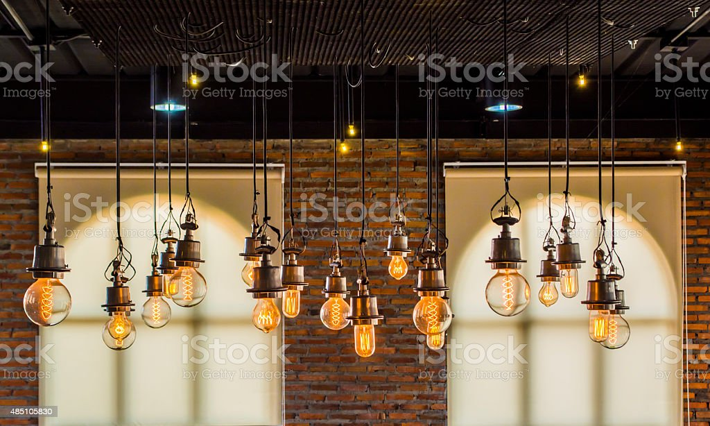 vintage tungsten light stock photo