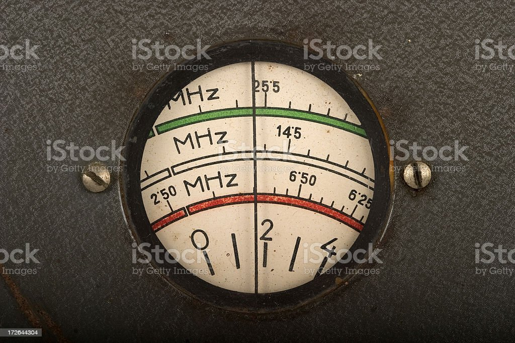 Vintage tuning dial stock photo