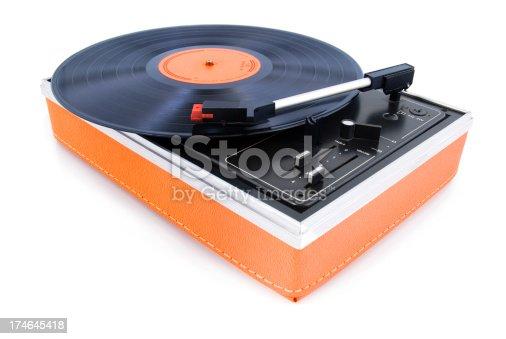 istock Vintage turntable 174645418