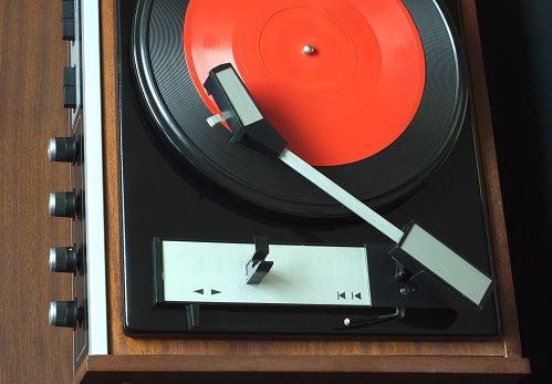 Vintage Turntable Top View