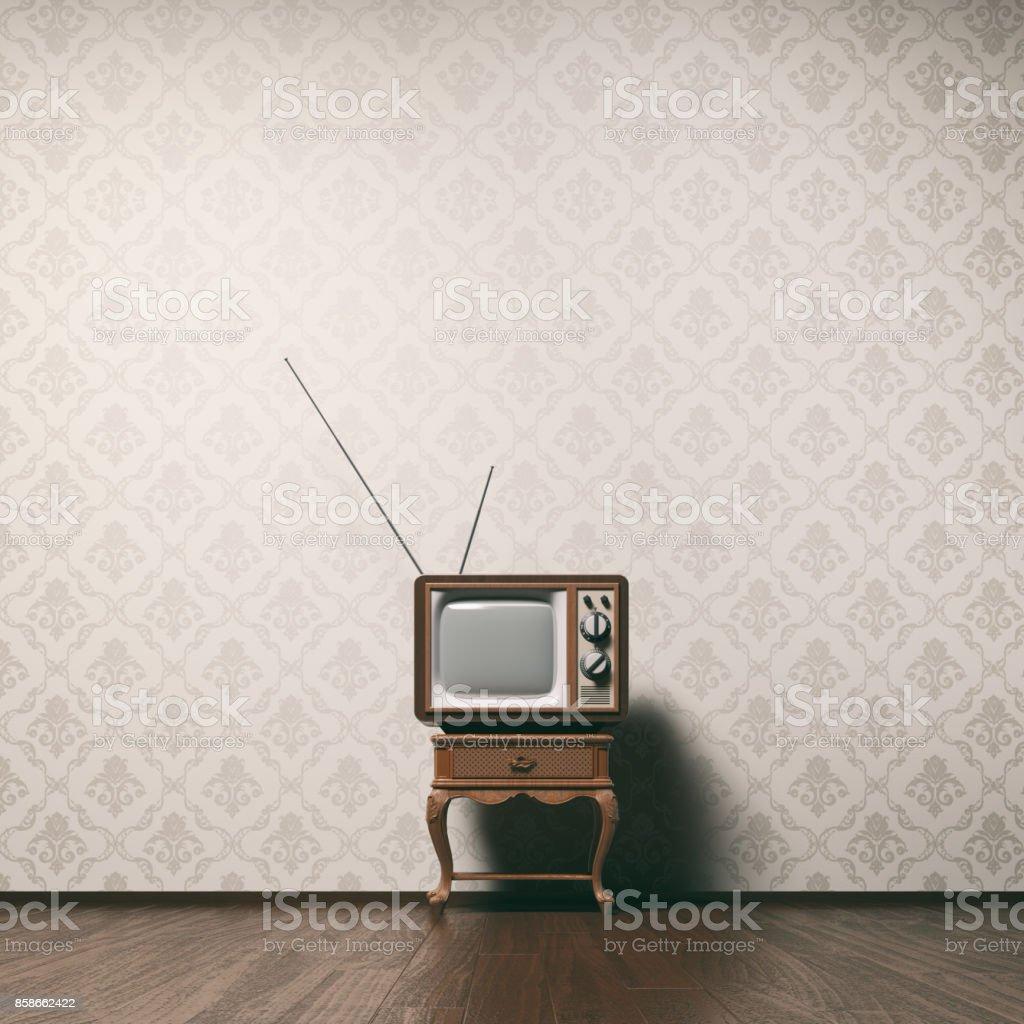 Vintage tv concept stock photo
