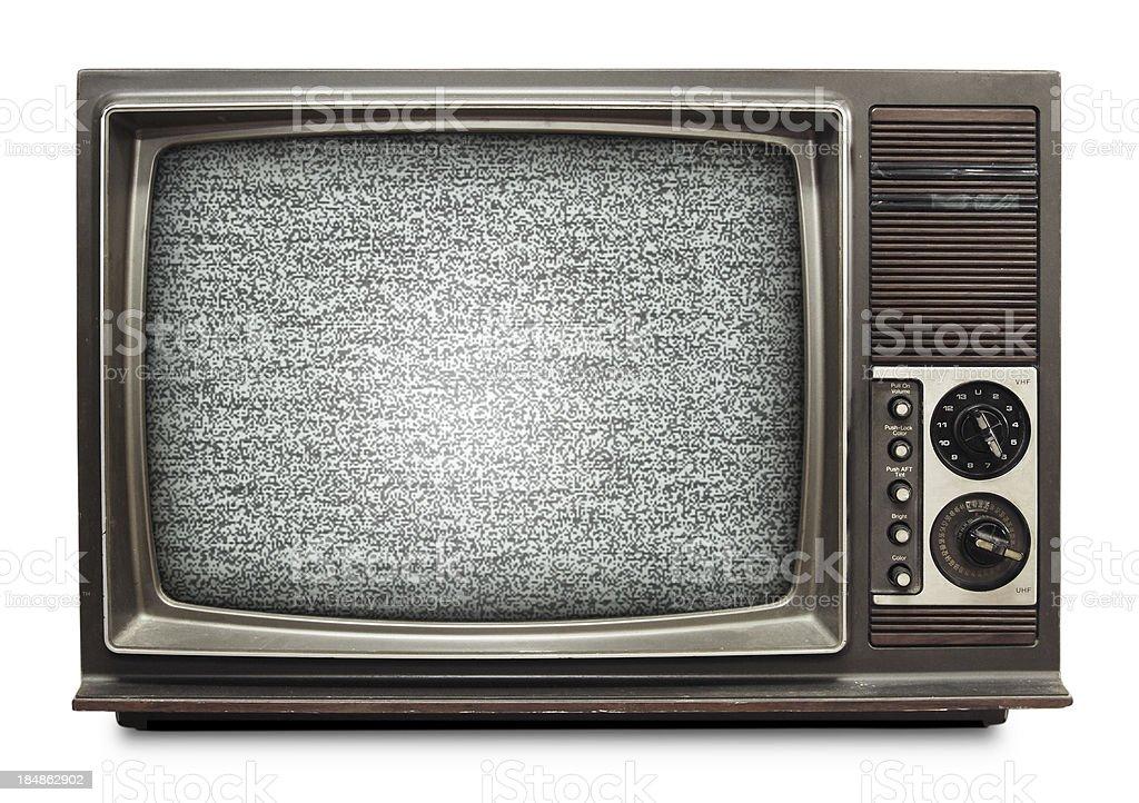 Vintage TV royalty-free stock photo