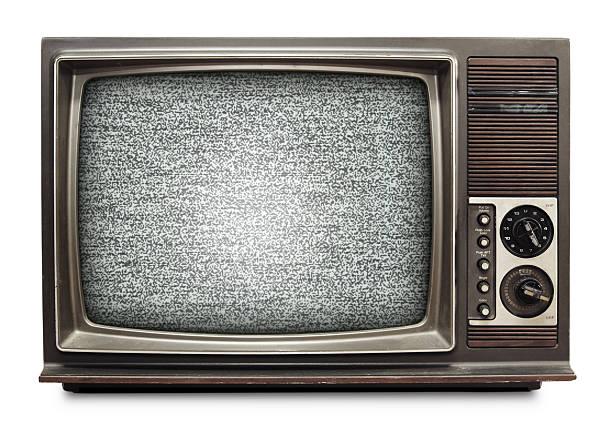 Vintage TV stock photo