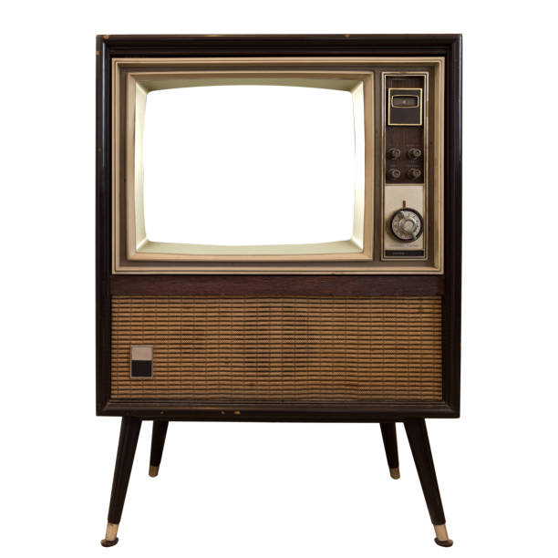 vintage tv - the past stock photos and pictures