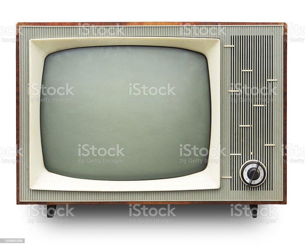 Vintage TV set. stock photo