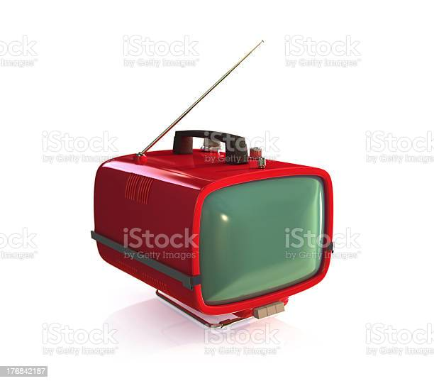 Vintage Tv Set Stock Photo - Download Image Now