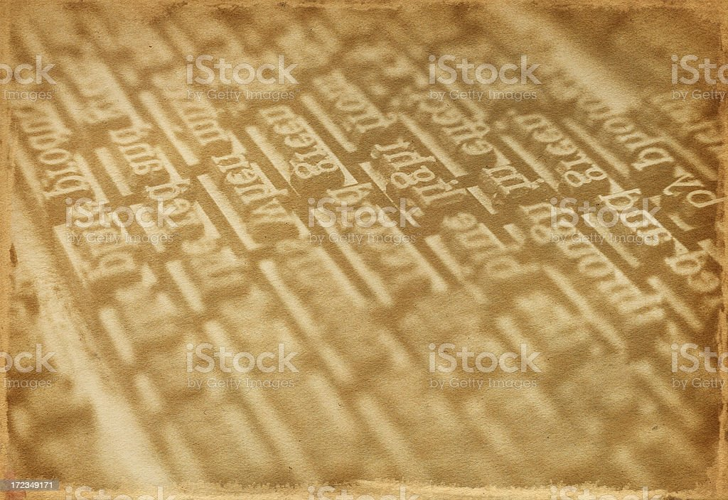 Vintage Type royalty-free stock photo