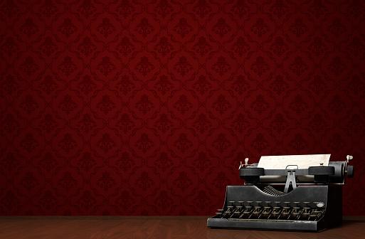 Vintage typewrite concept