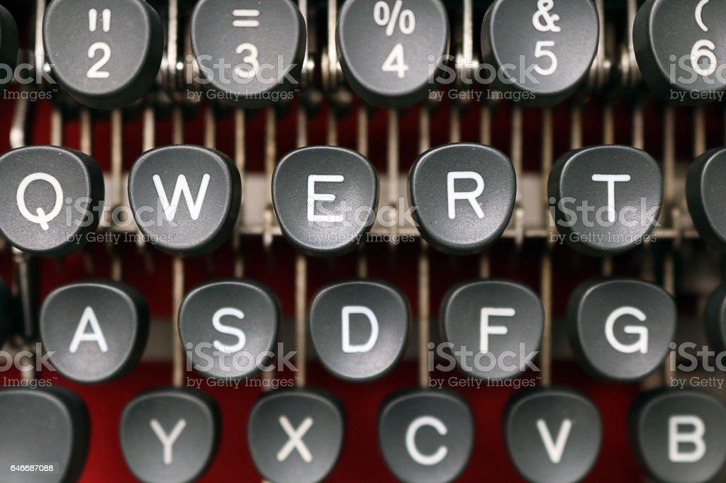 Vintage Typewriter Closeup stock photo