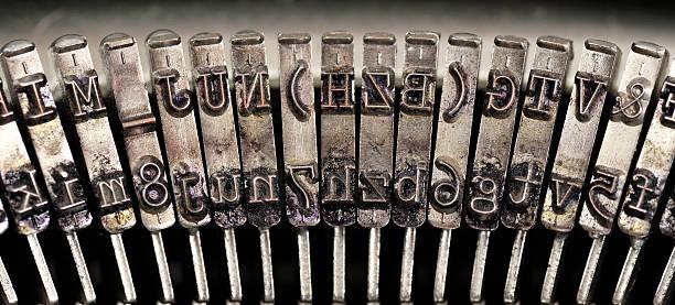 Vintage typewriter detail. stock photo
