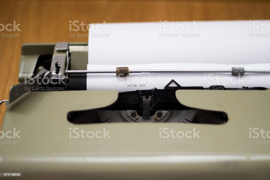 Vintage Schreibmaschine flatlay - Lizenzfrei Alt Stock-Foto