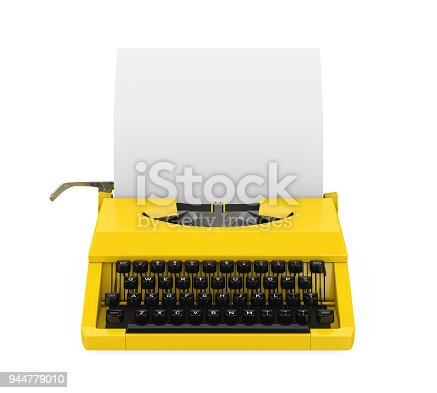 istock Vintage Typewriter Isolated 944779010
