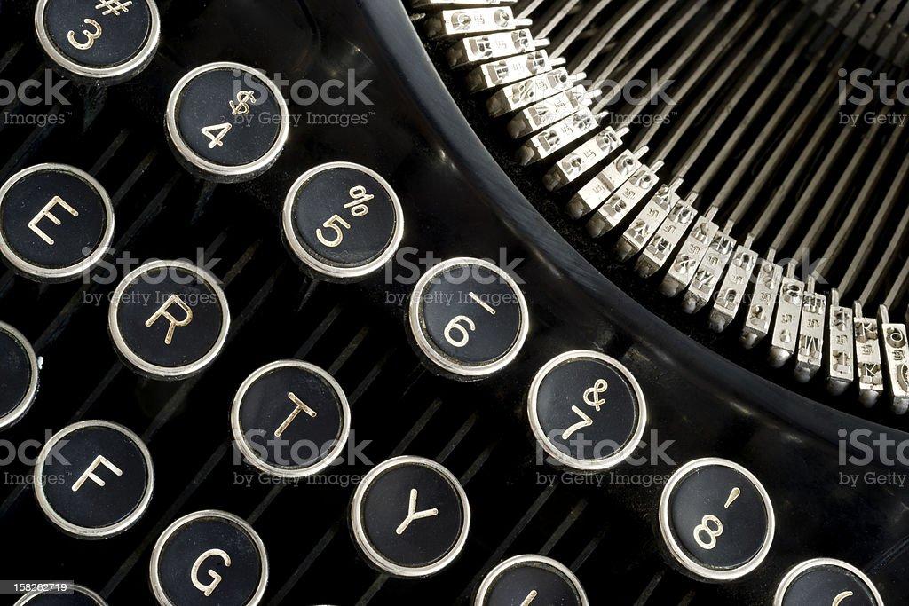 Vintage Typewriter Keyboard Antique Writing Tool stock photo