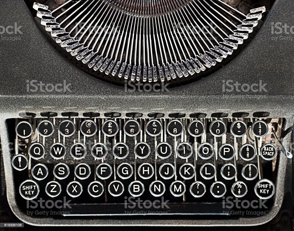Vintage Typewriter Keyboard Spacebar And Type Stock Photo More