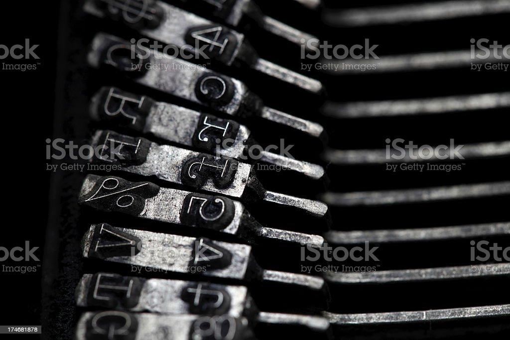 Vintage Typewriter Keys stock photo