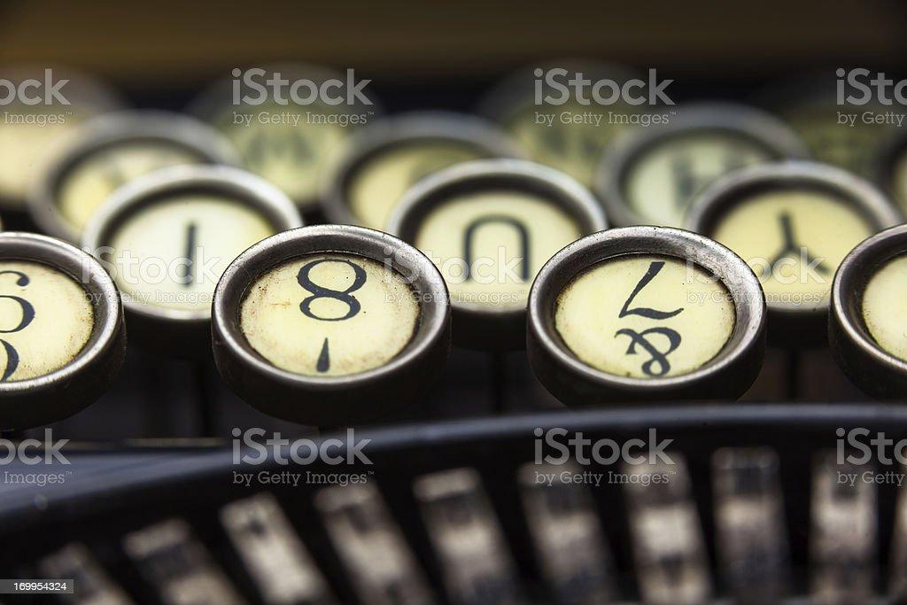 Vintage Typewriter Macro stock photo