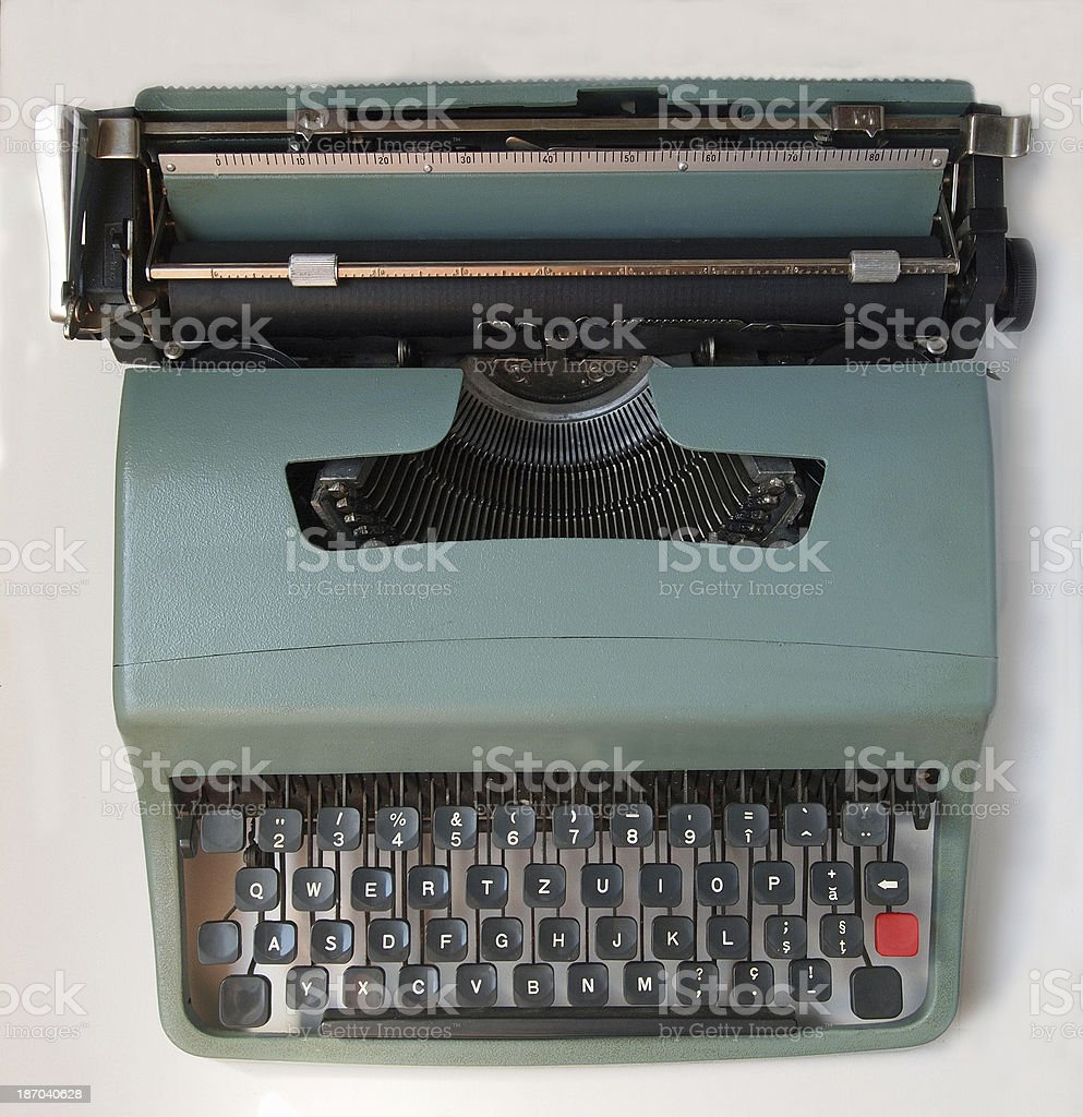 Vintage typewriter  on white background royalty-free stock photo