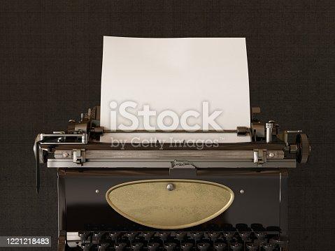Vintage Typewriter. 3d Render