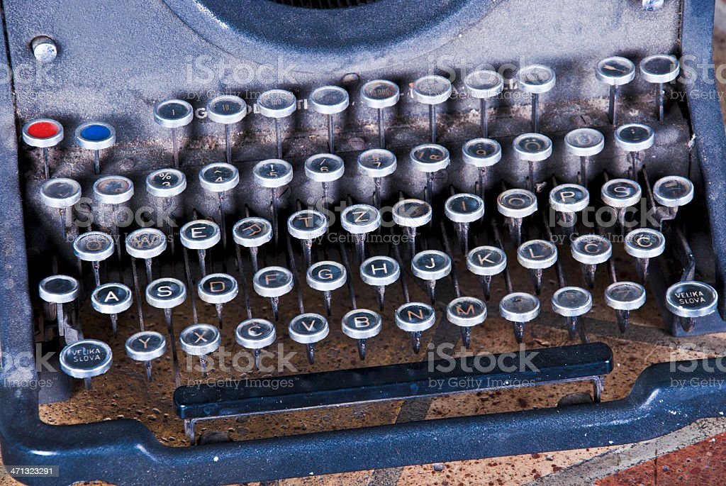 Vintage typewriter royalty-free stock photo