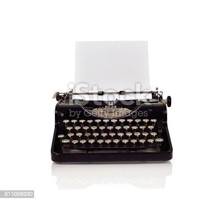 istock Vintage typewriter 511059330