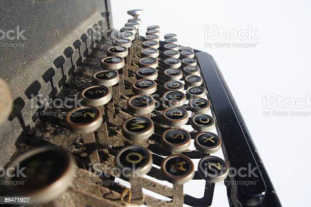 Vintage Typewriter Stock Photo - Download Image Now