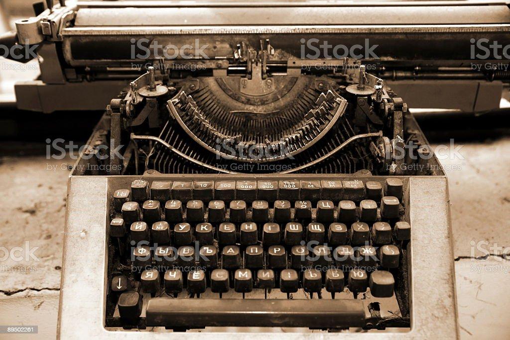 Vintage typewriter royaltyfri bildbanksbilder
