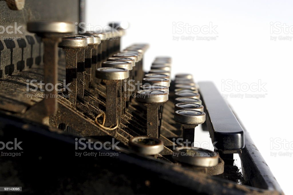 Vintage Typewriter - Side Perspective royalty-free stock photo